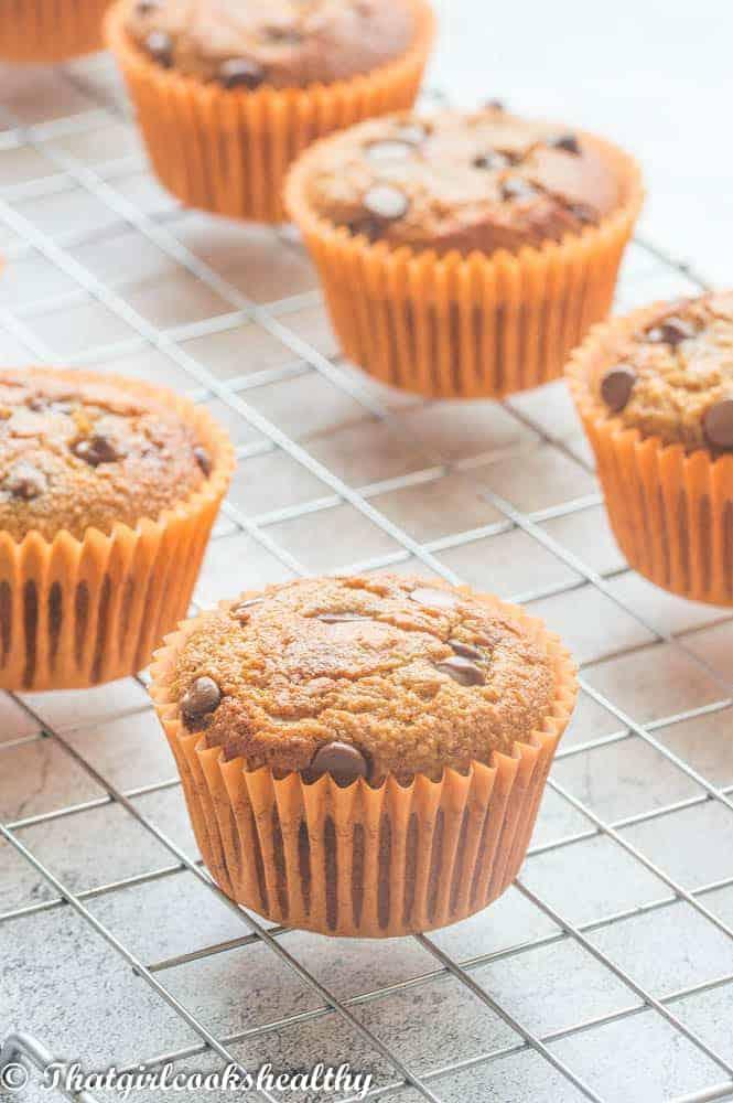 muffins in an orange case