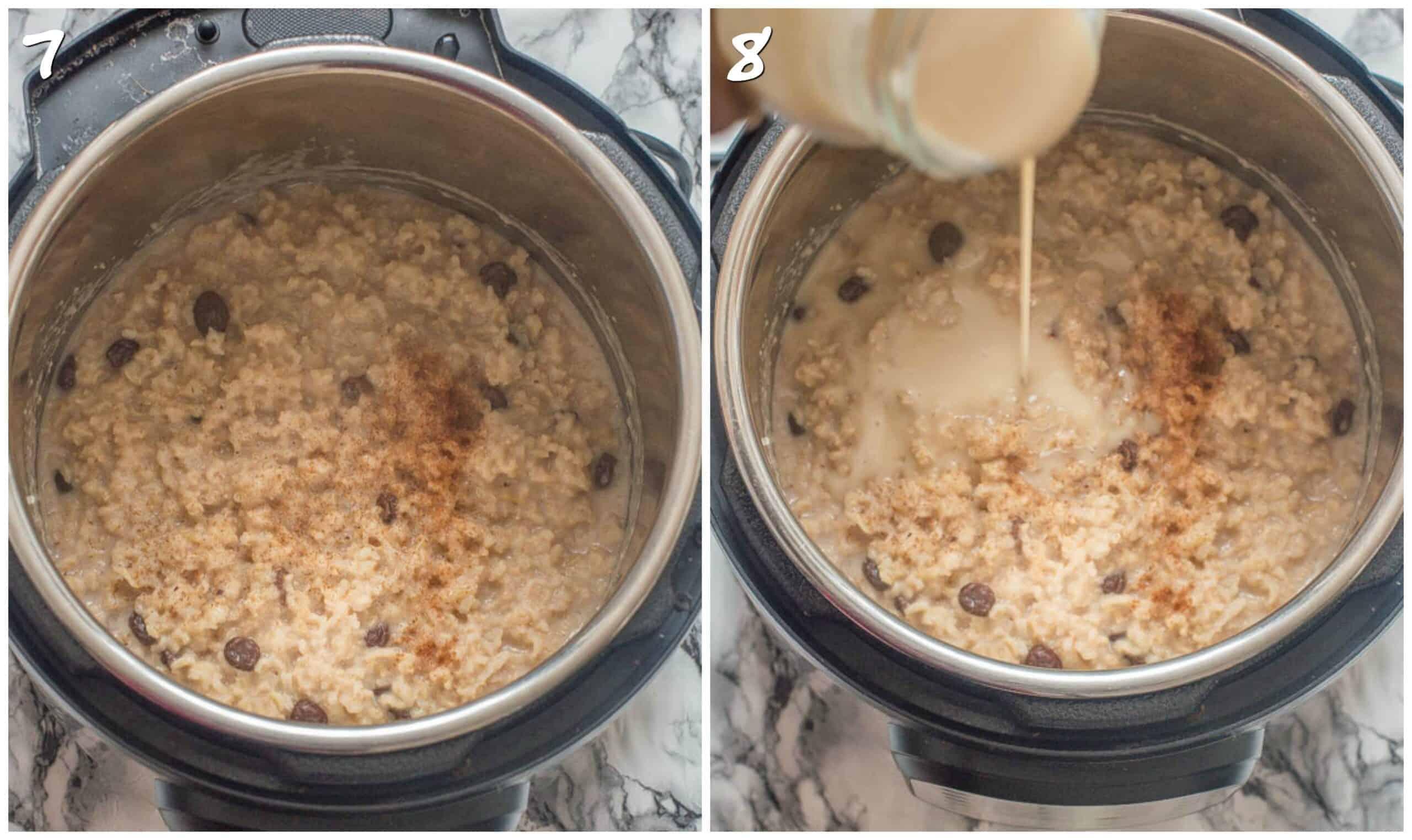 steps 7-8 adding condensed milk