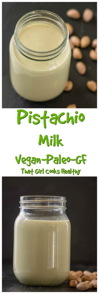 Learn to make your own dairy free, plant based homemade pistachio milk