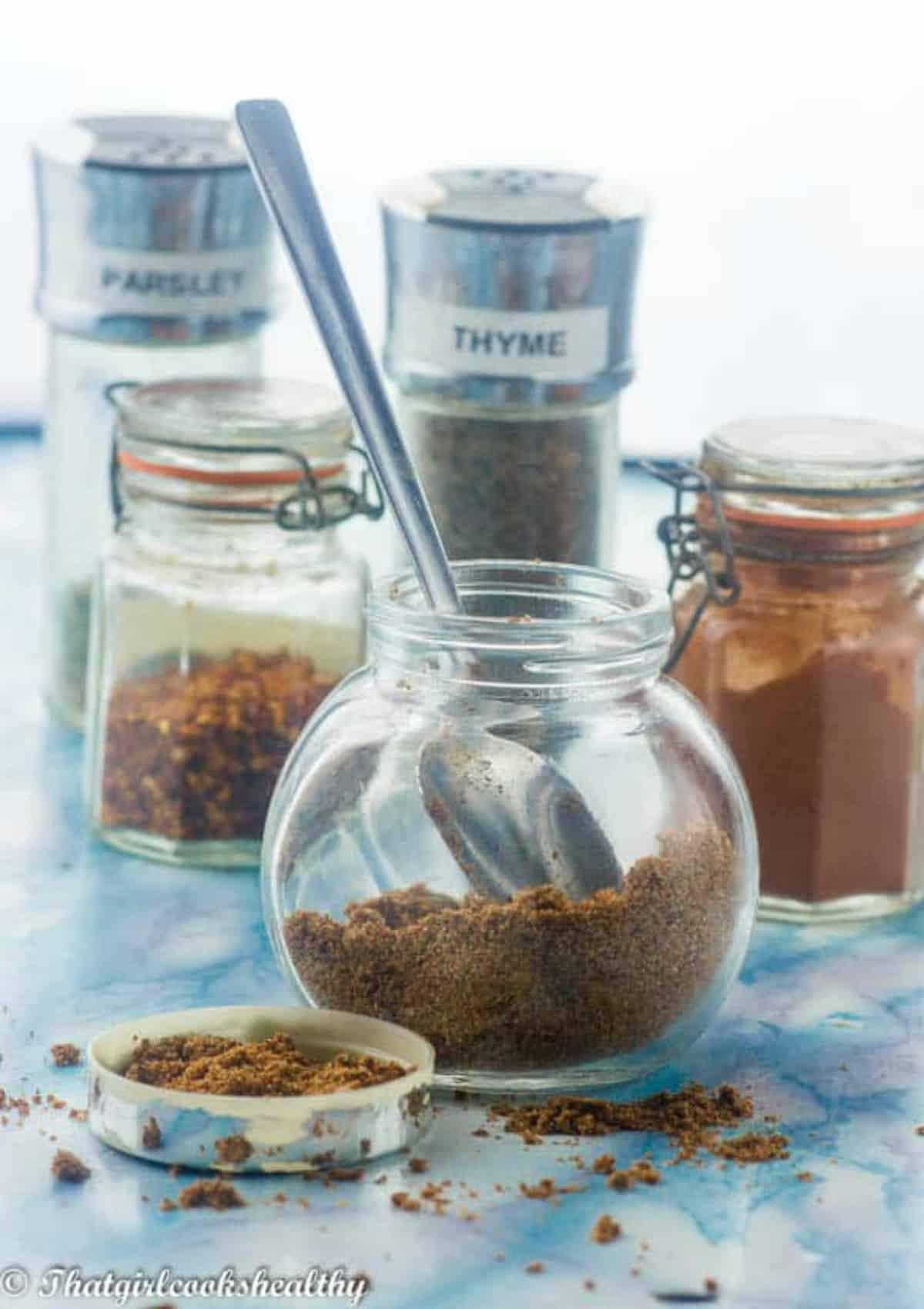 Seasoning with a teaspoon