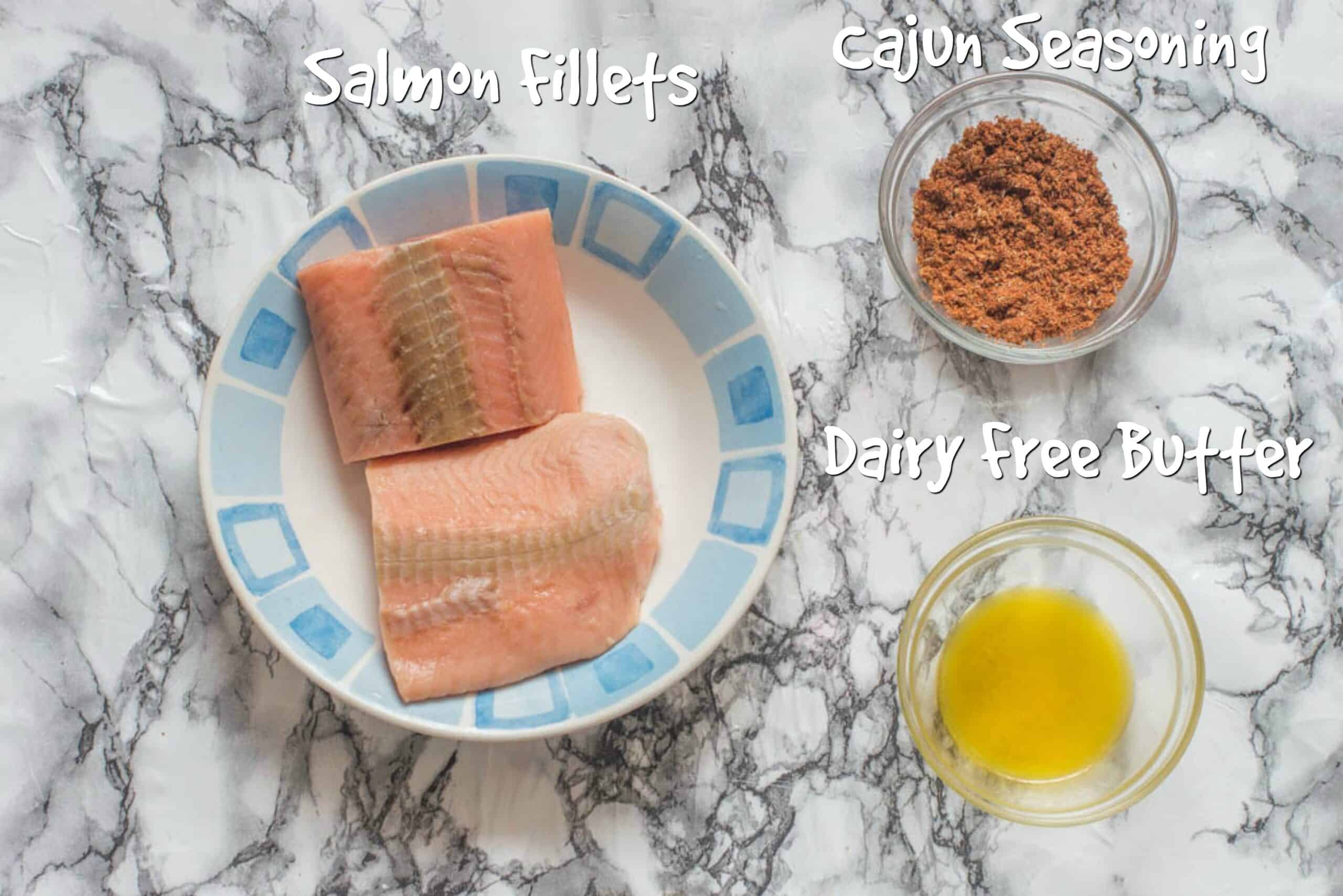 ingredients for blackened salmon