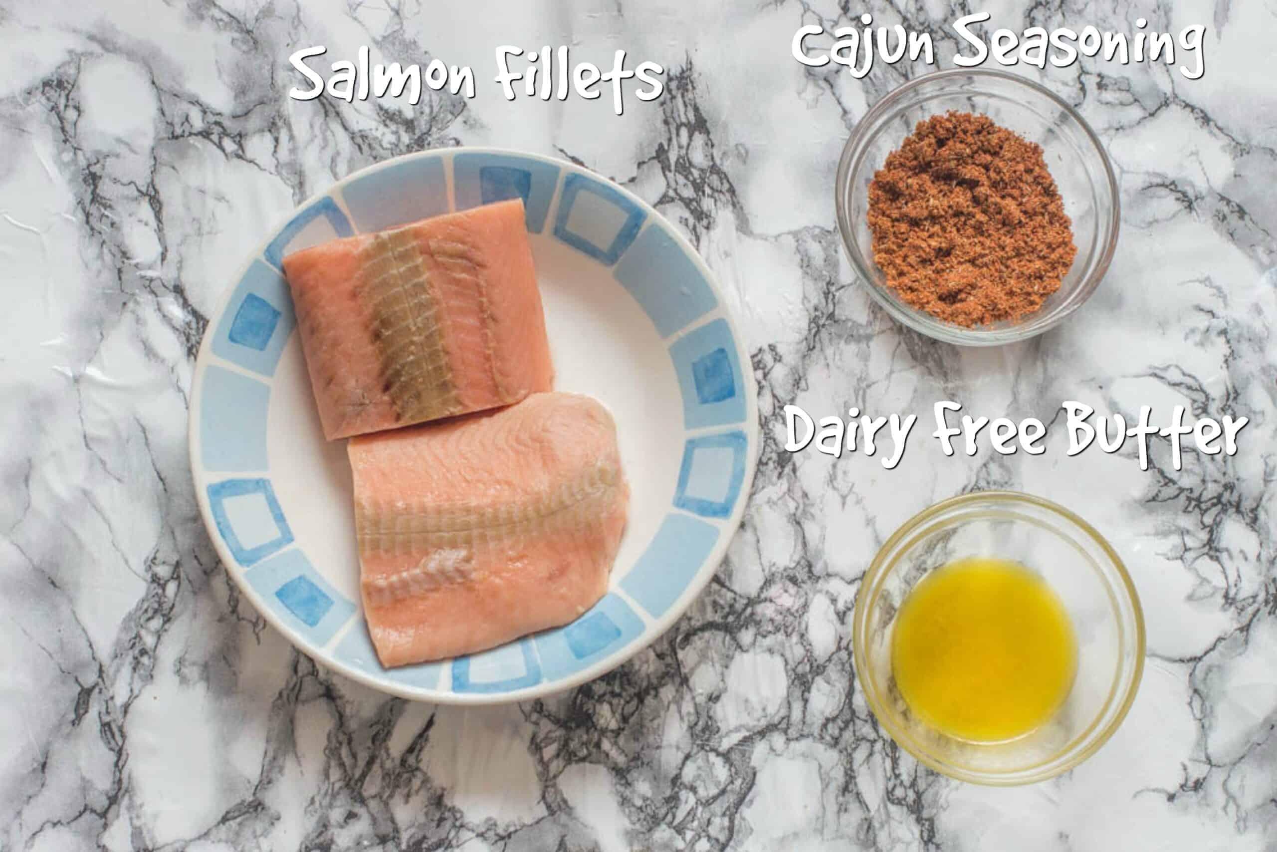 ingredients for blackened salmon