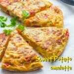 Sweet potato loaded rendition of the traditional Spanish omelette