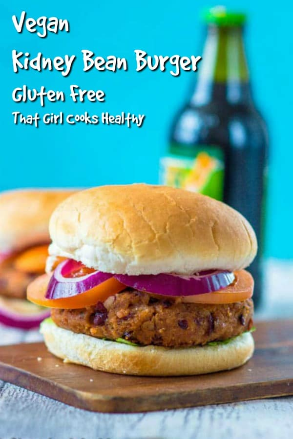 Delicious meat free burger is made from red kidney beans and make the best appetizer ever