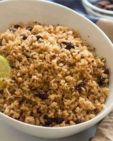 close up of the rice