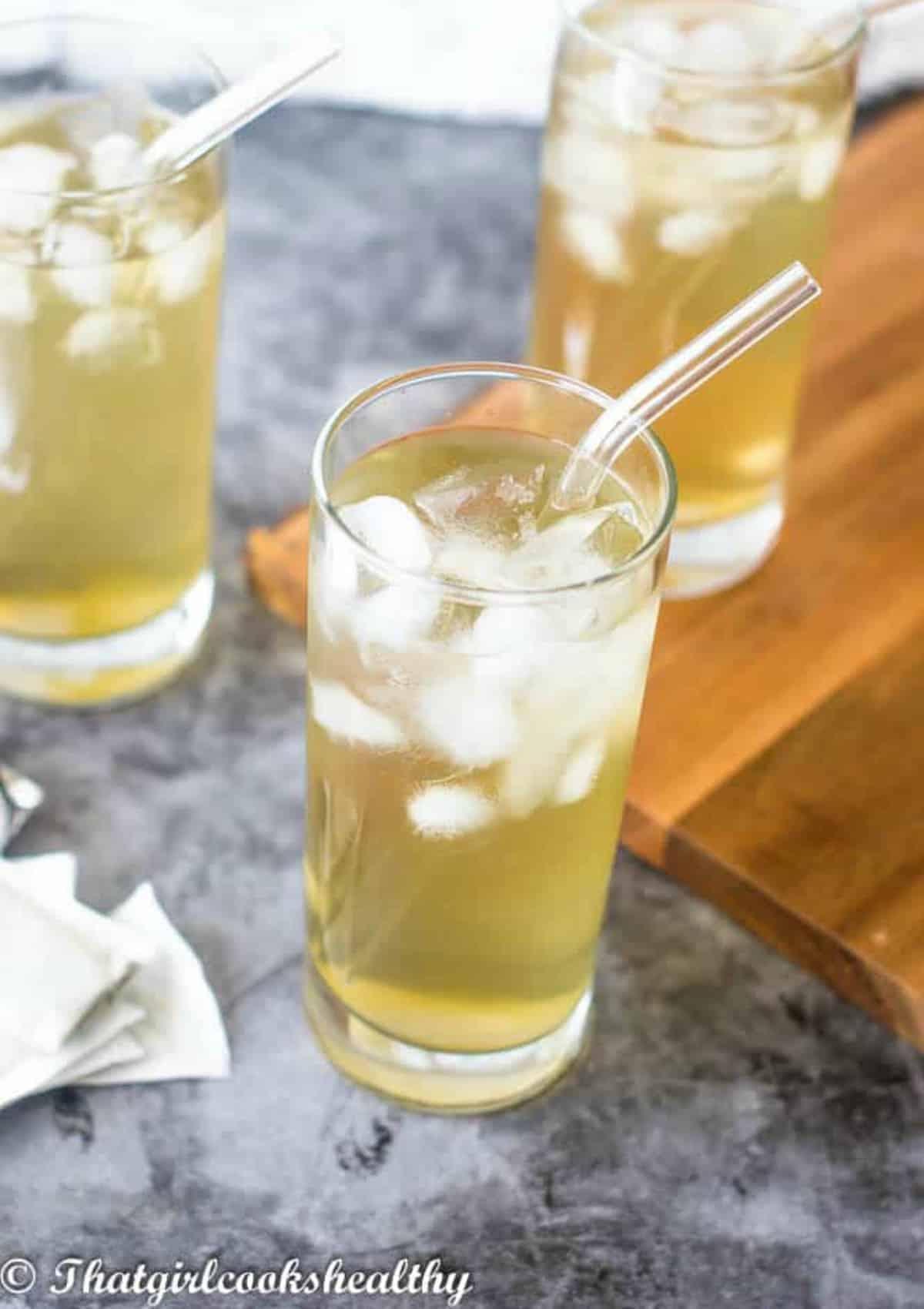Three glasses of cerasee