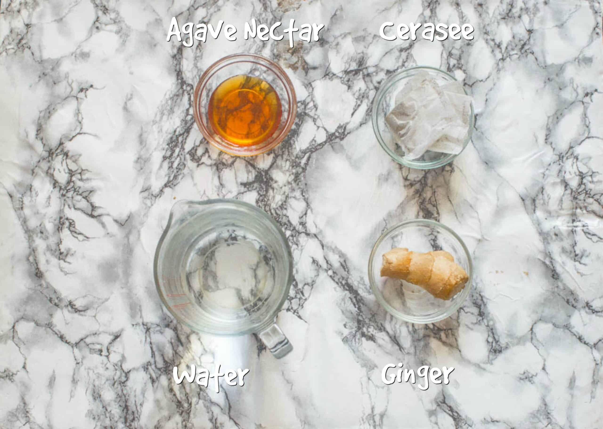 ingredients for cerasee tea