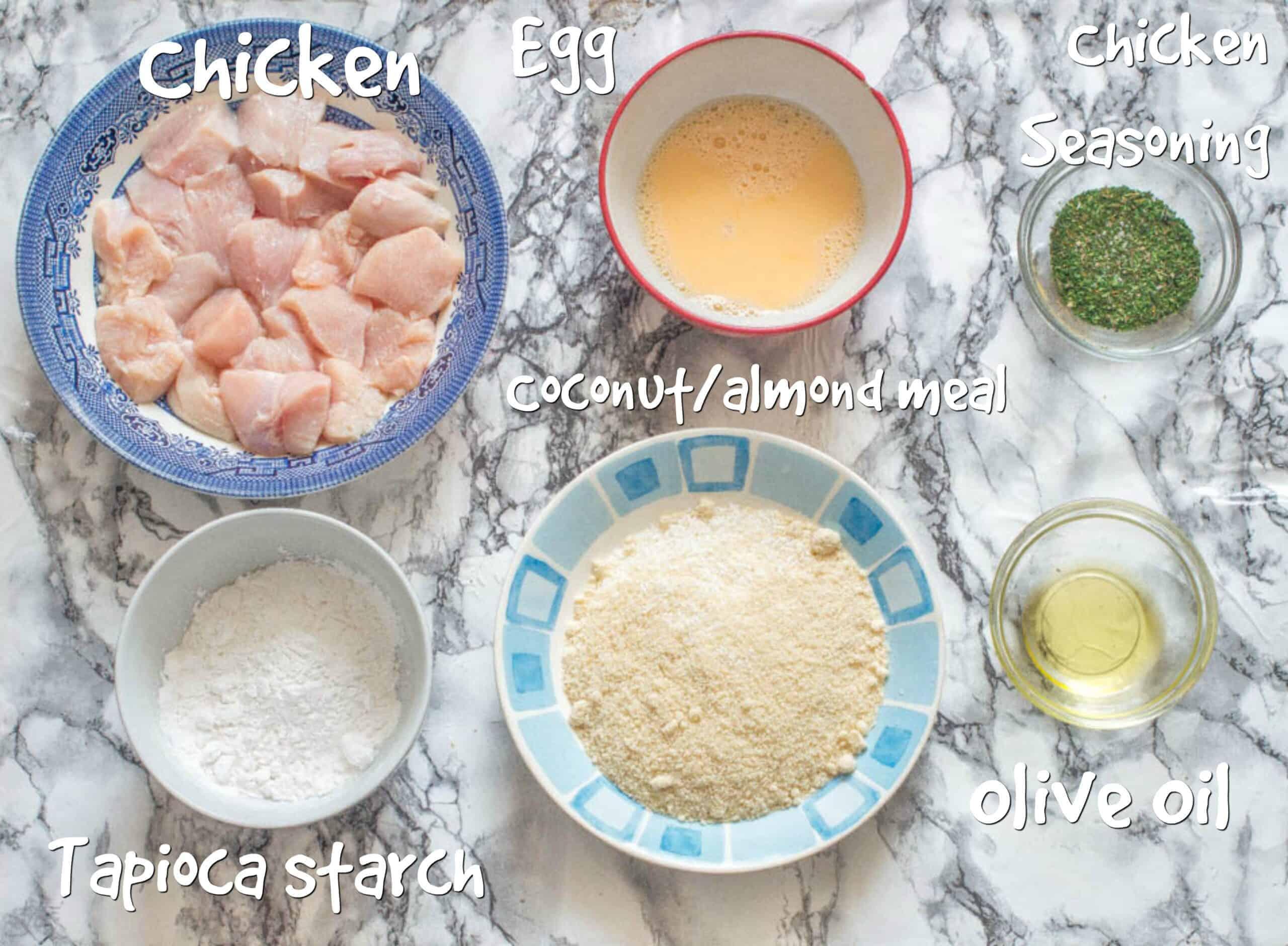 ingredients for gluten free chicken nuggets