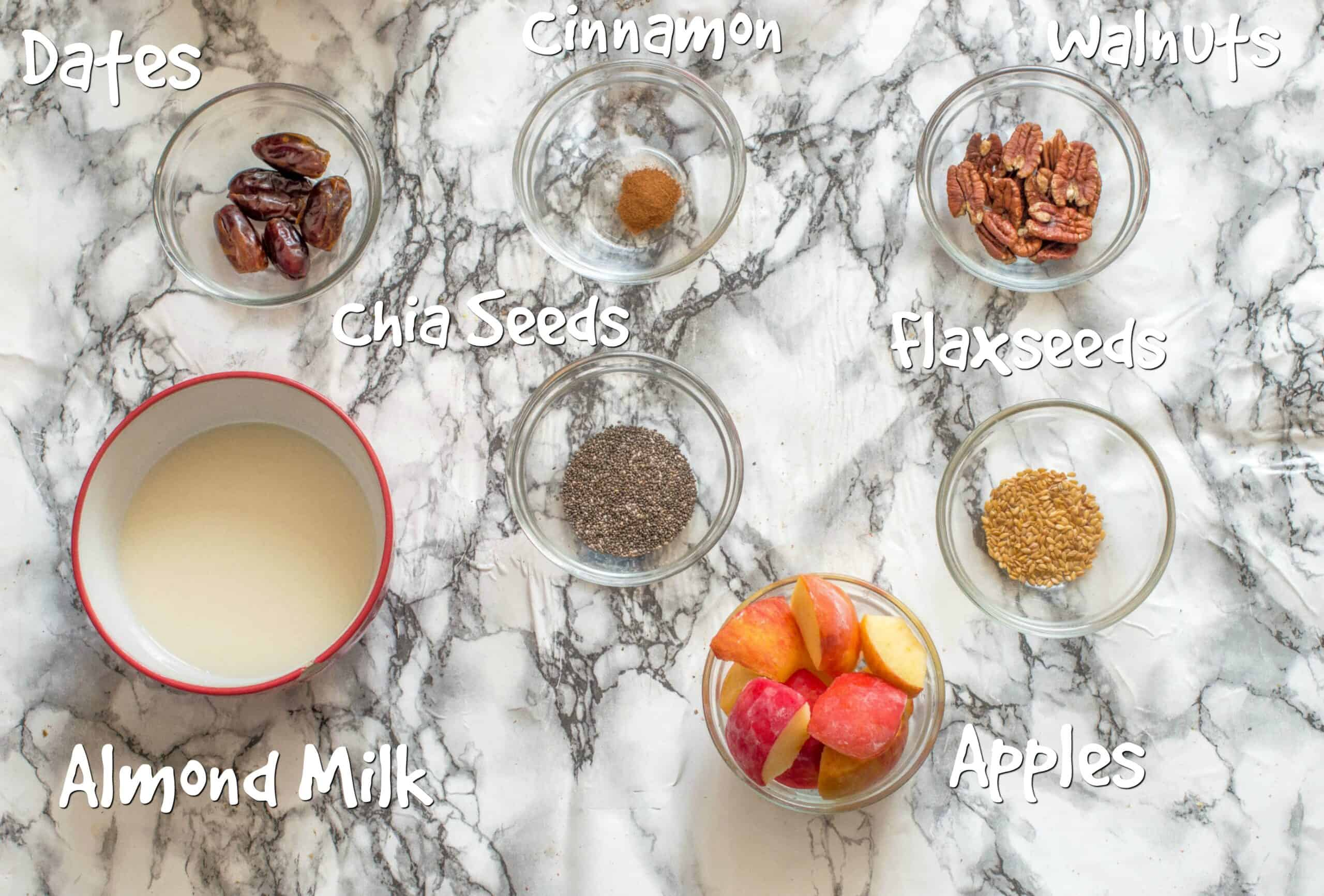 ingredients for apple pie smoothie