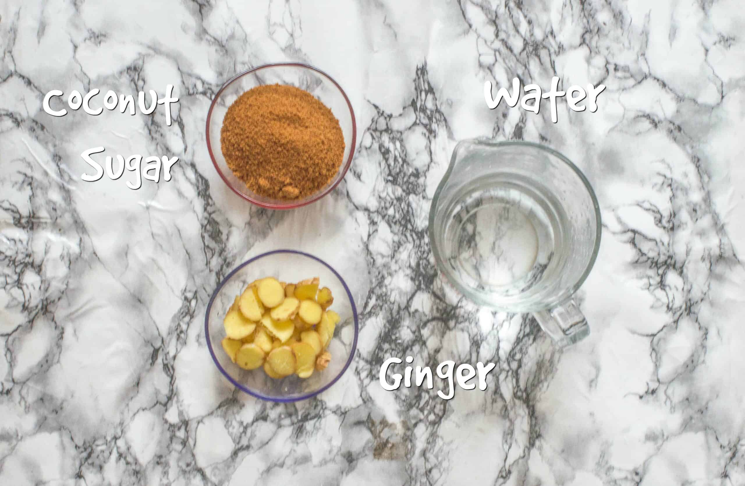 ingredients for ginger syrup