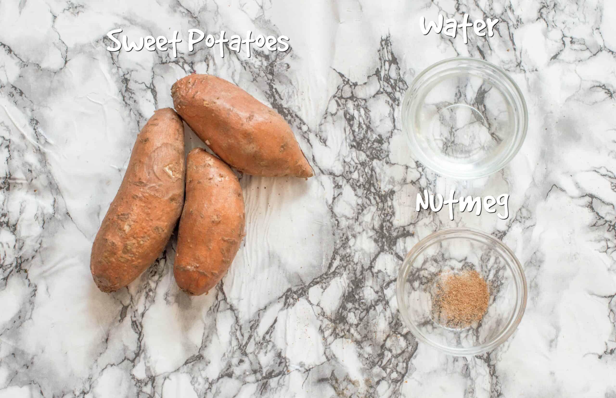 ingredients you need for sweet potato mash