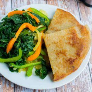 bammy and veggies
