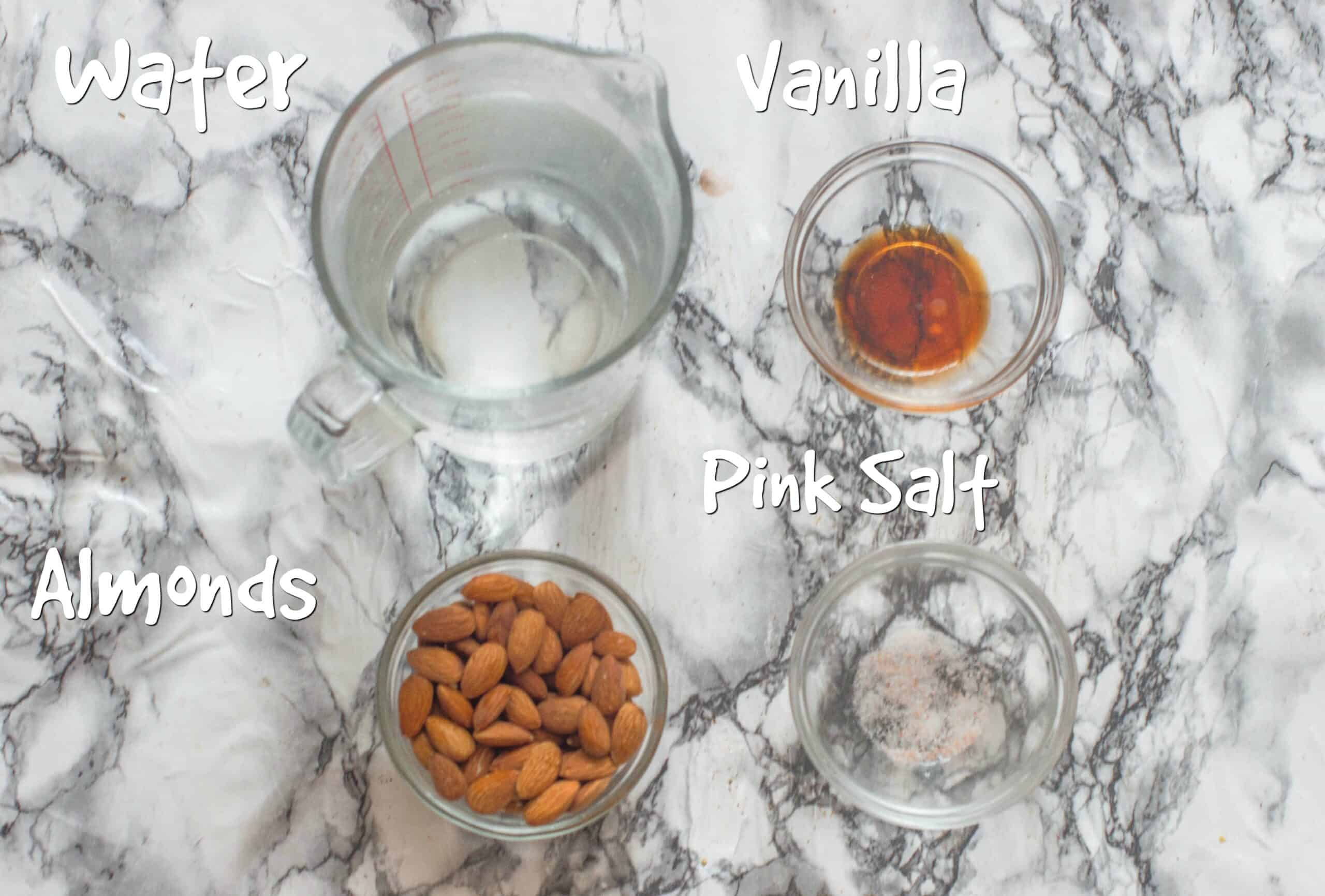 ingredients for almond milk