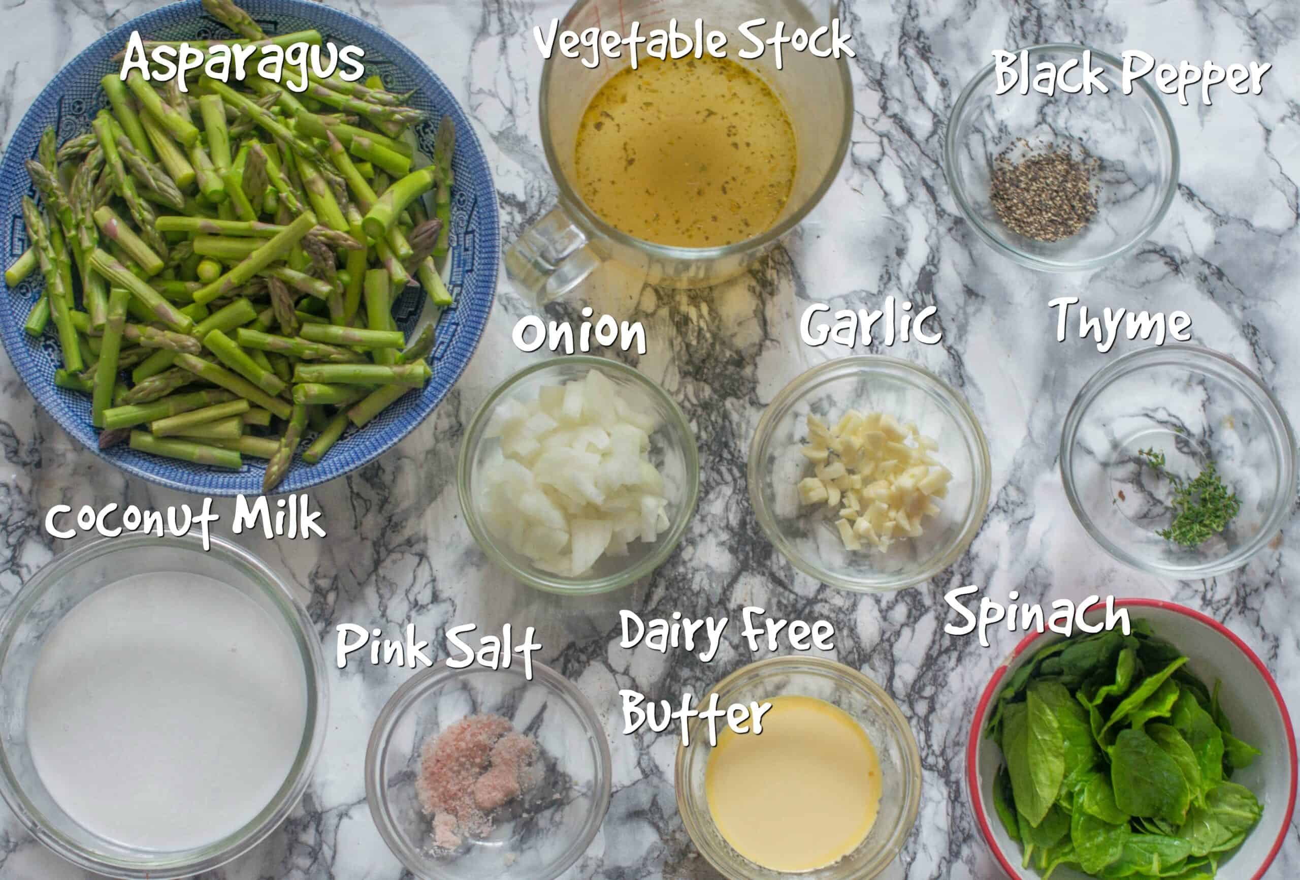 ingredients for instant pot asparagus soup