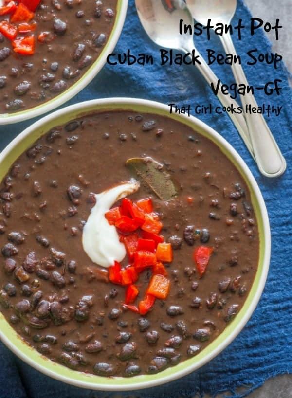 short black bean soup pin