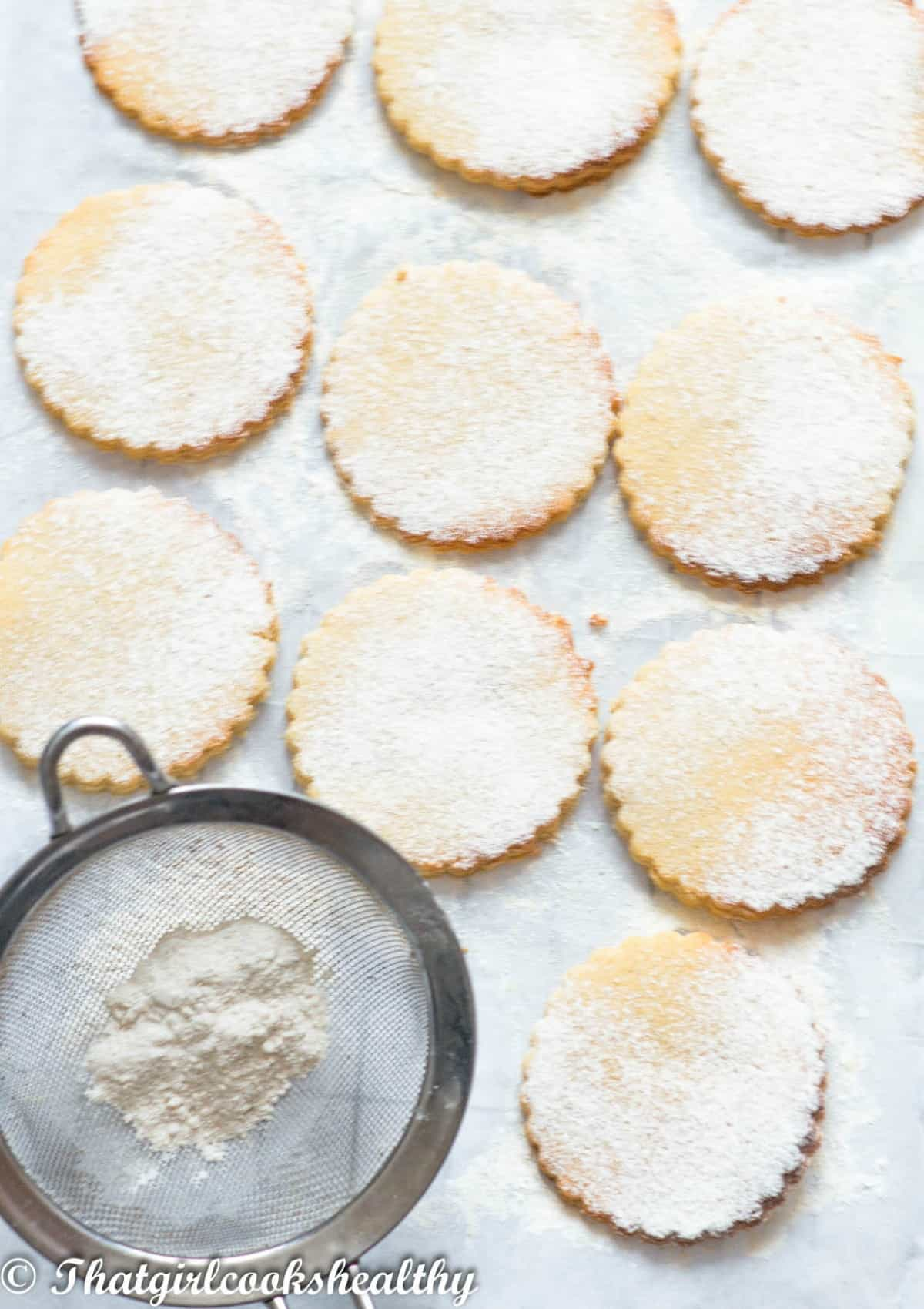 cookies with a sieve