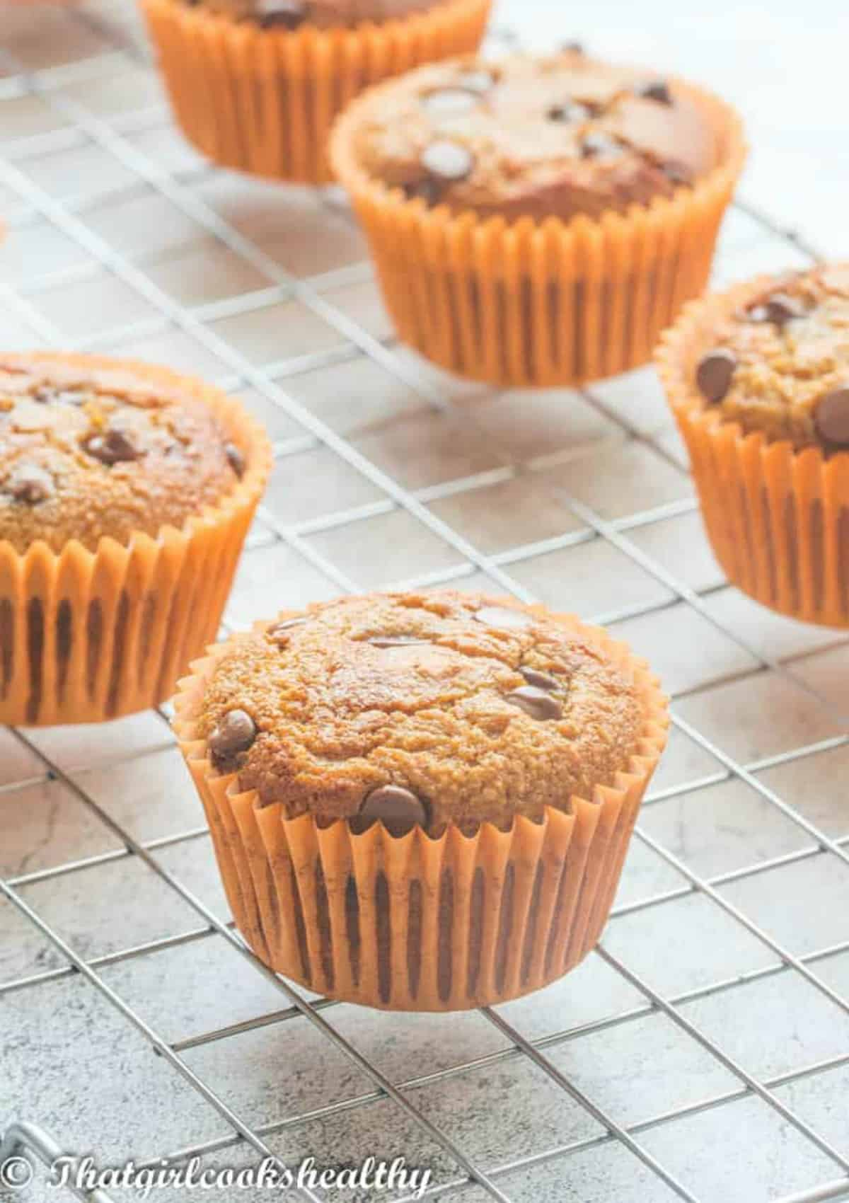 Muffins in brown casing
