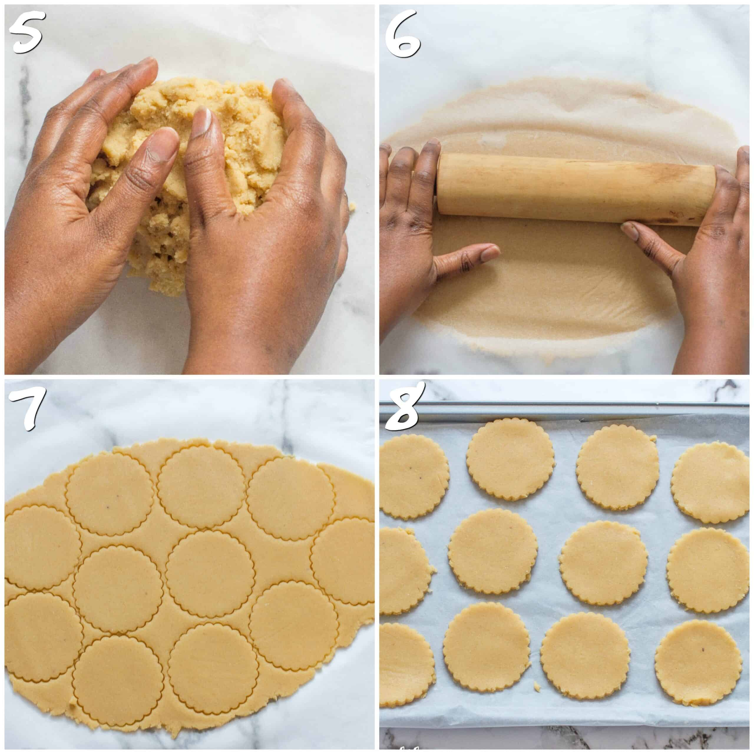 steps5-8 cutting out the cookies