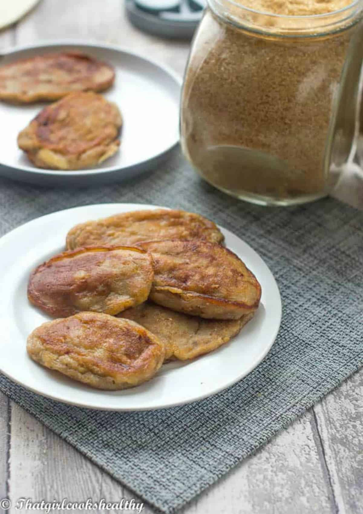 fritters on a white plate