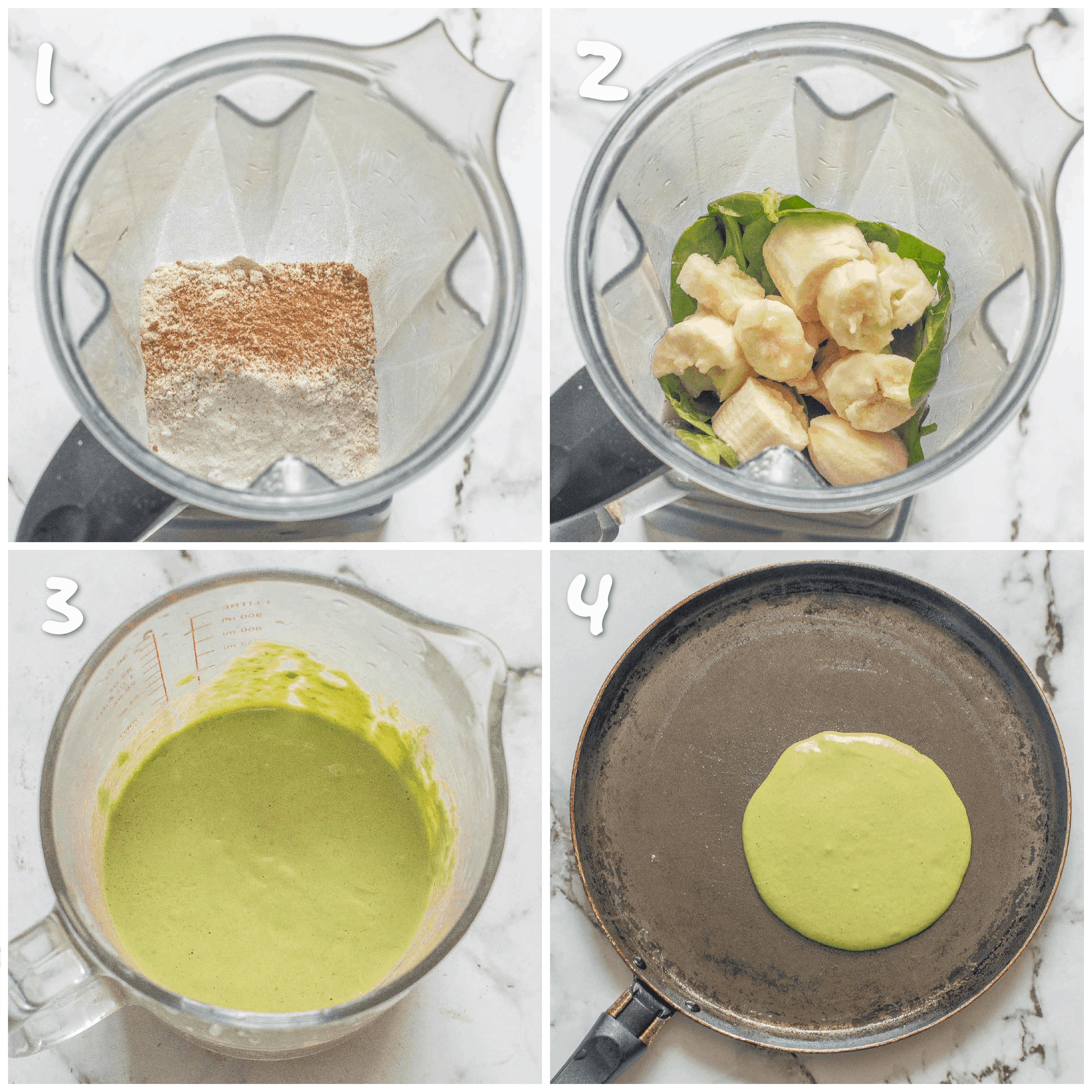 step1-4 pureeing the pancake mix