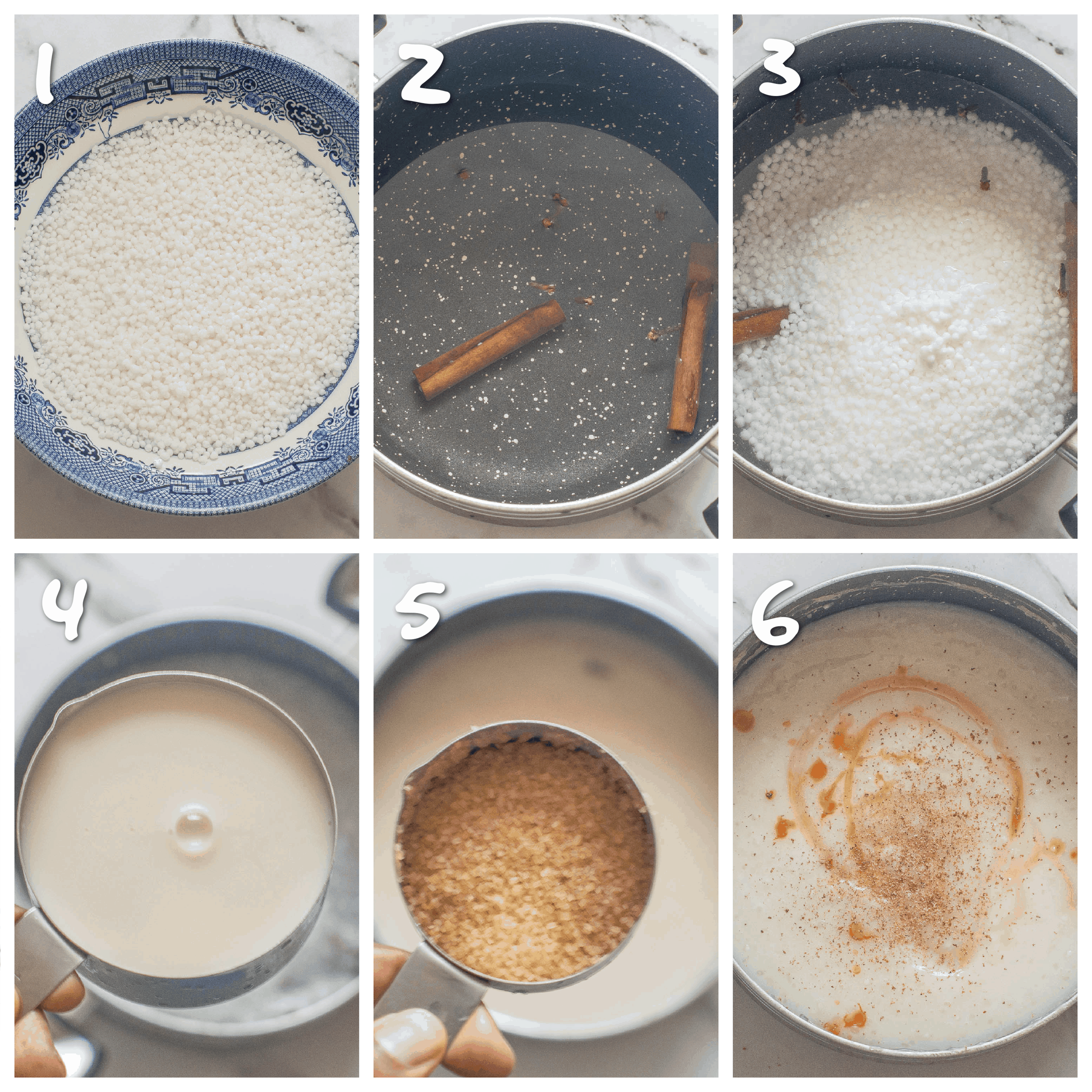 step1-6 boiling the sago pearls to make porridge