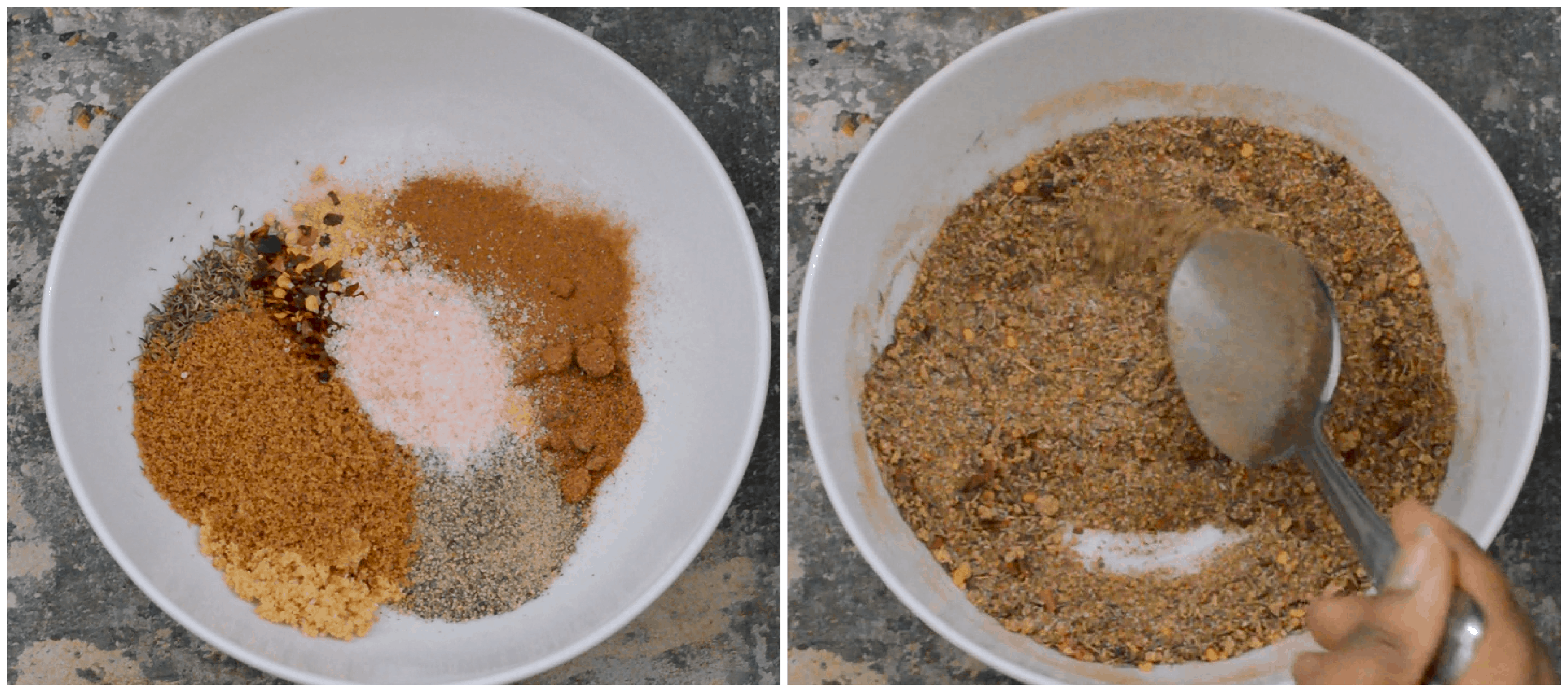 steps1-2 mixing the spices