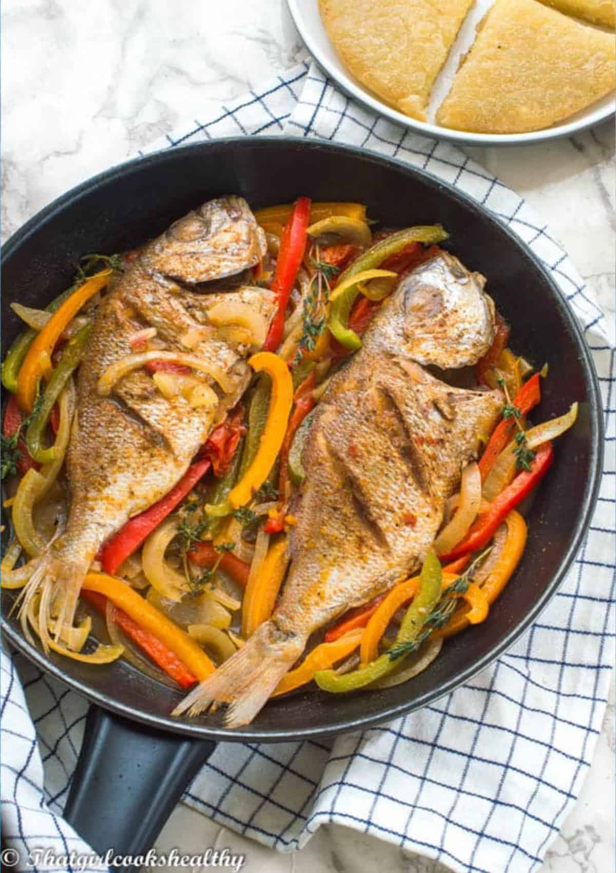 fish in a skillet