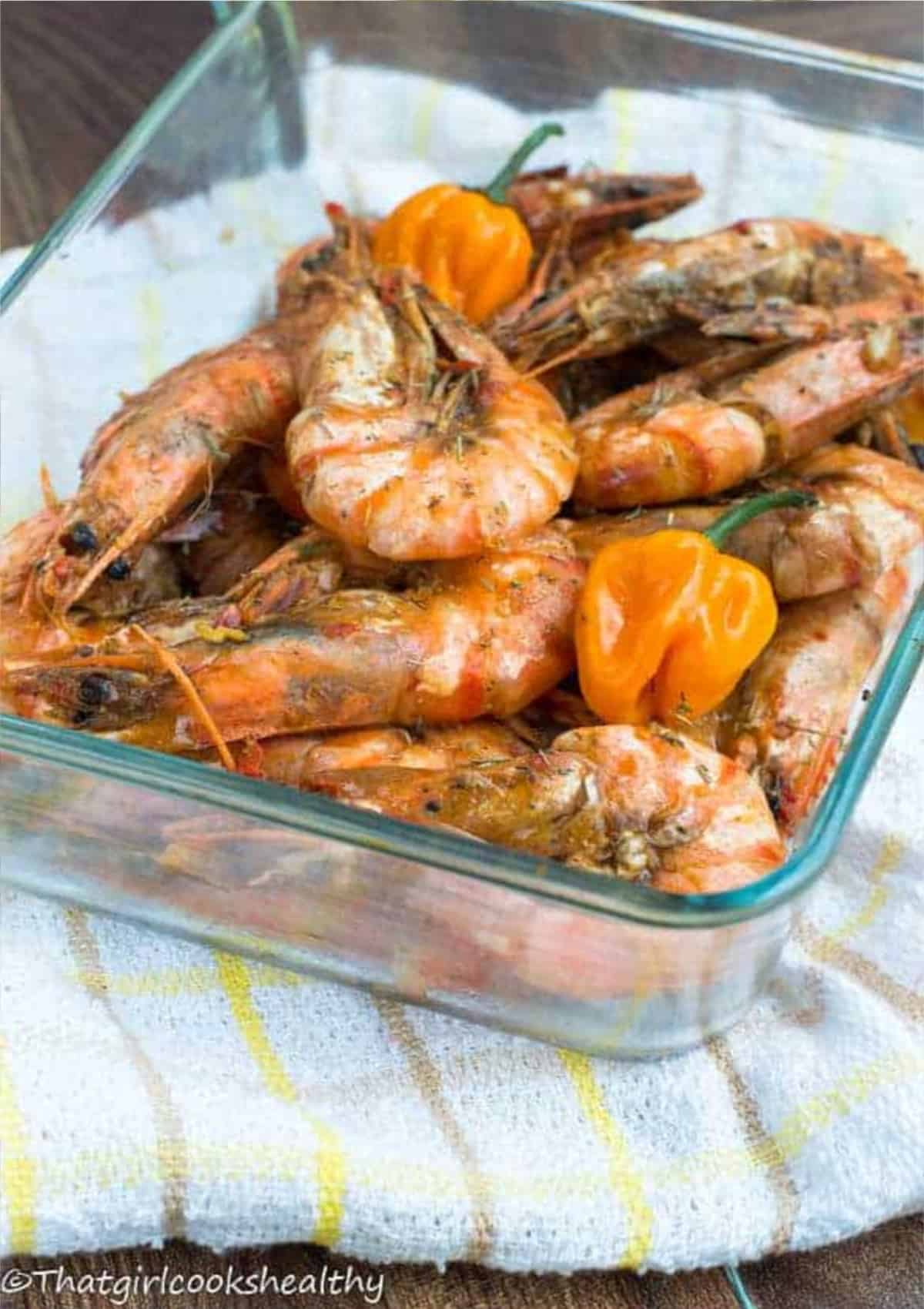 shrimp with orange scotch bonnet
