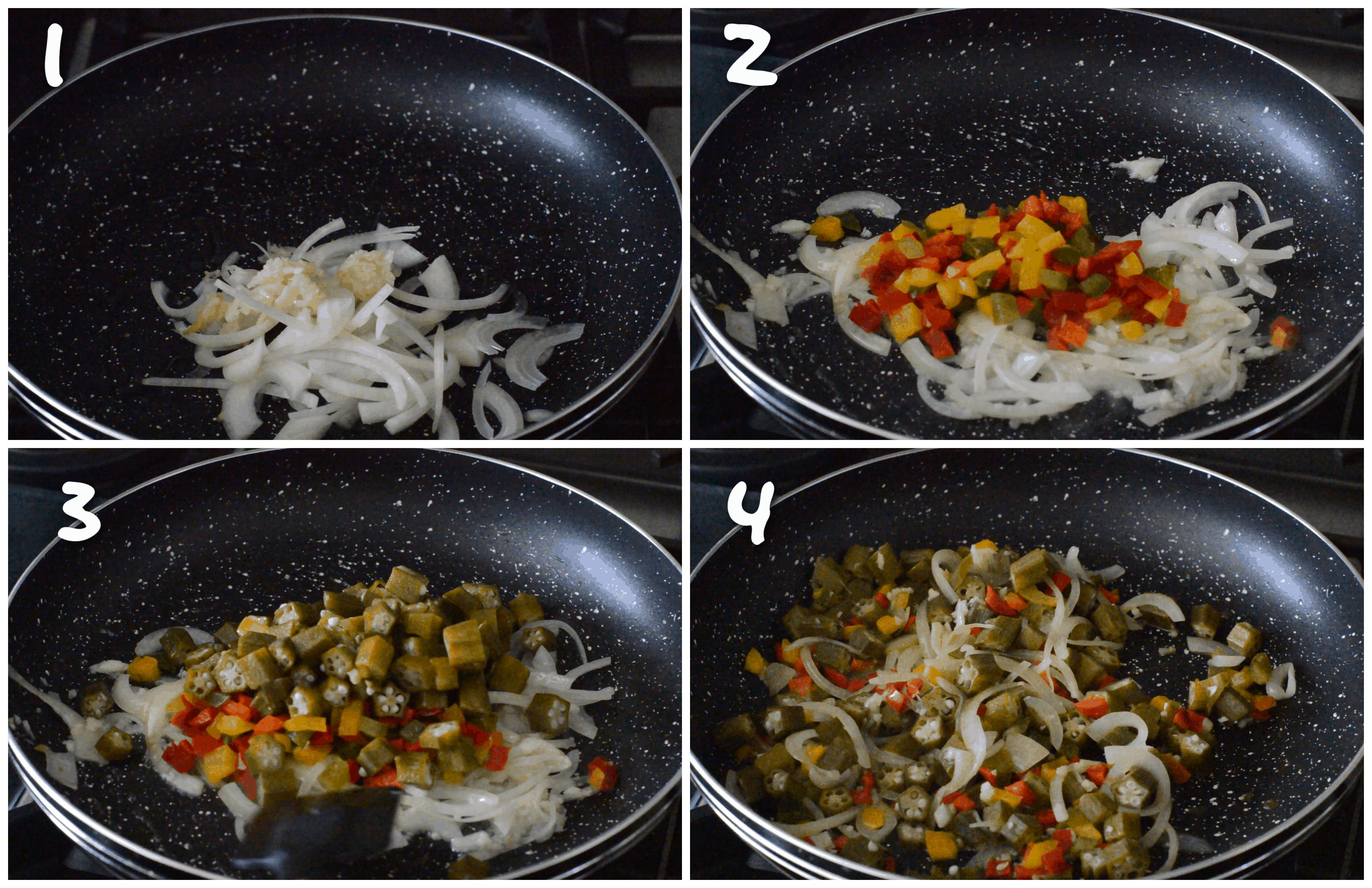 steps1-4 sauteing vegetables