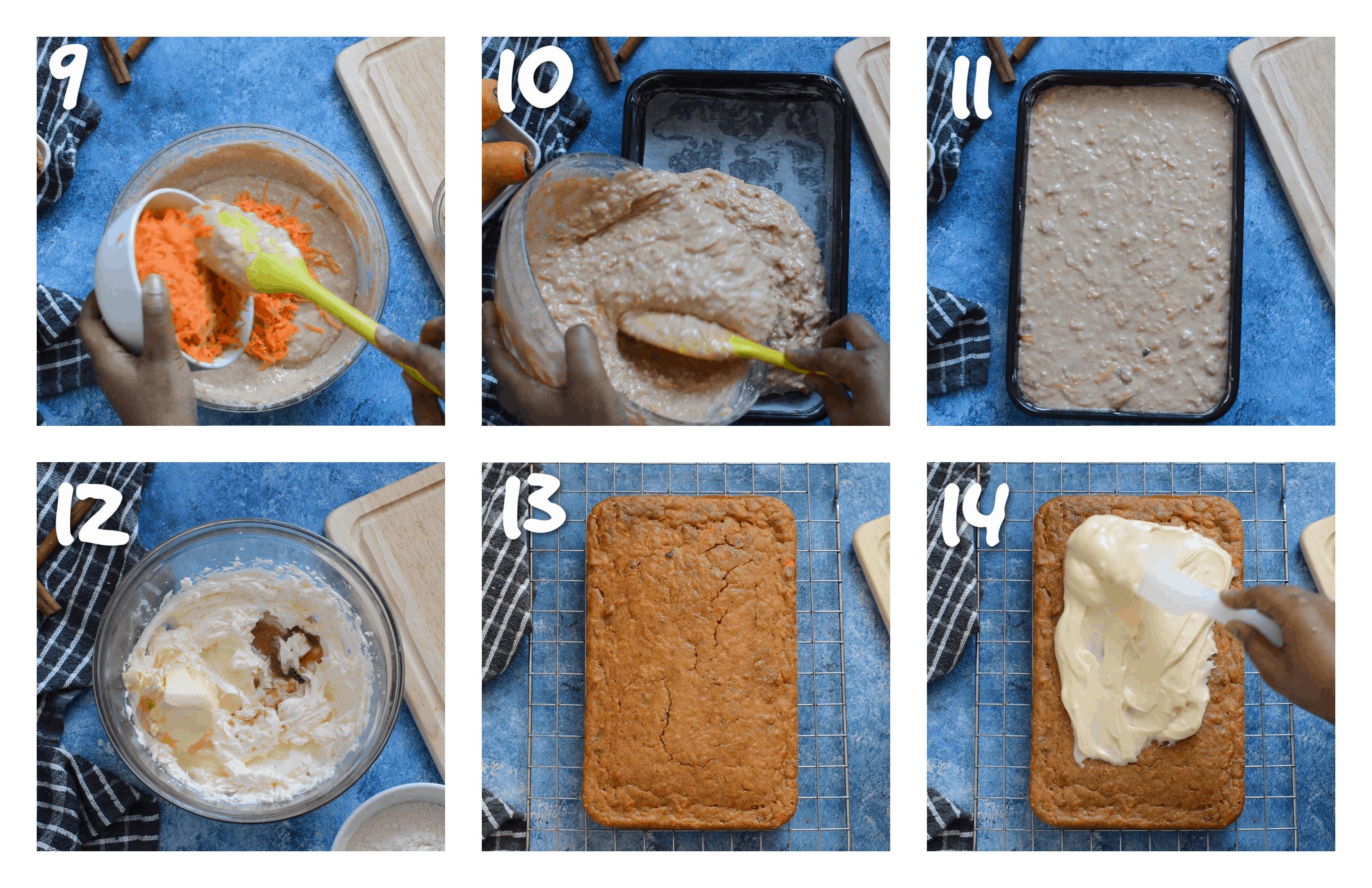 steps9-14 adding wet ingredients n bake cake
