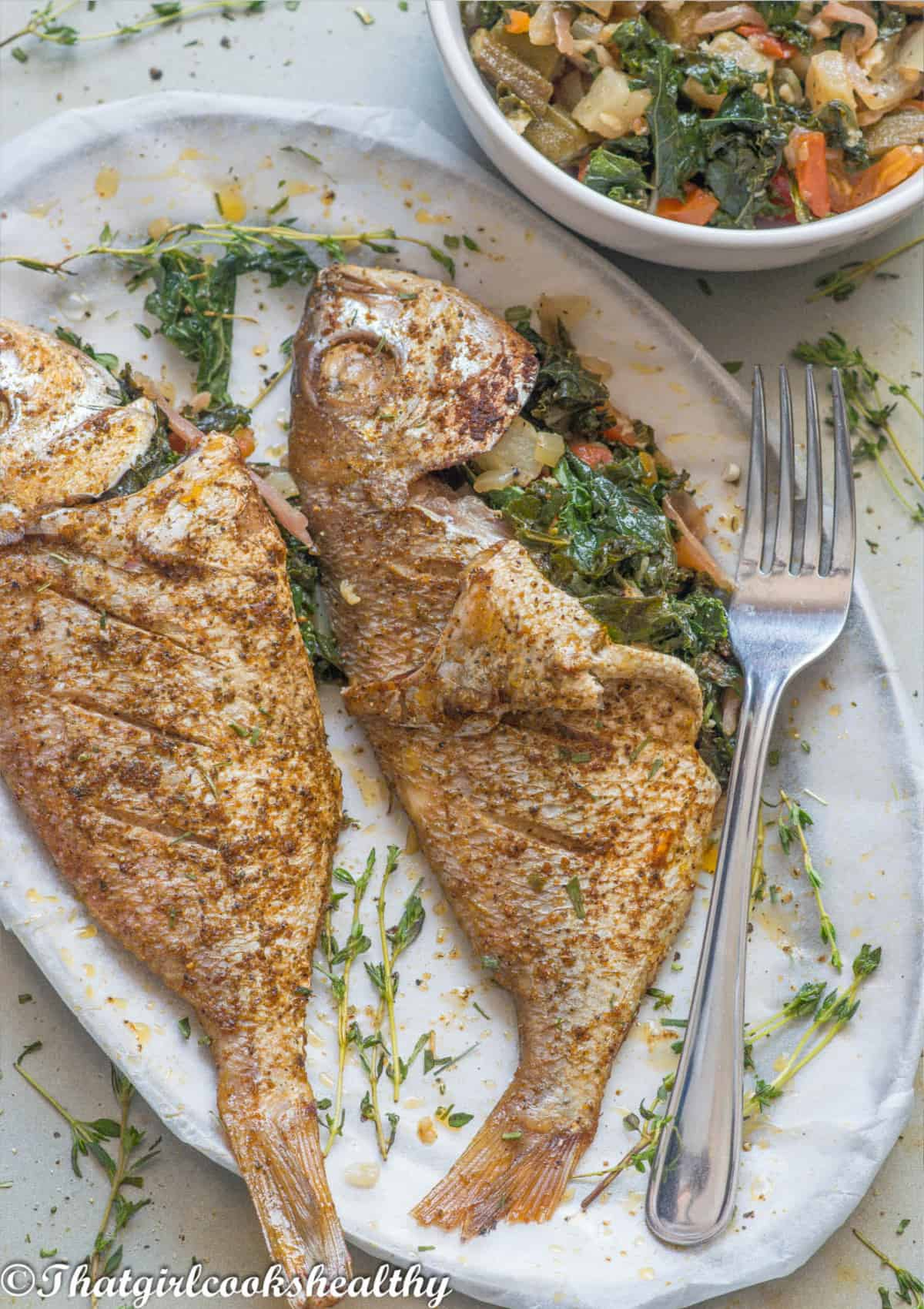 fish with vegetables stuffed inside